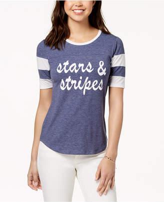 Pretty Rebellious Rebellious One Juniors' Stars & Stripes Graphic T-Shirt