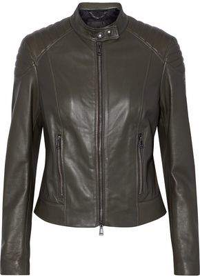 Belstaff Quilted Leather Biker Jacket