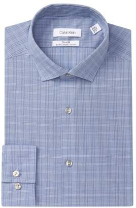 Calvin Klein Plaid Slim Fit Dress Shirt