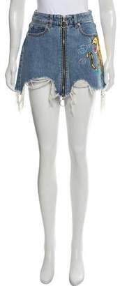 Marcelo Burlon County of Milan Denim Distressed Skirt w/ Tags