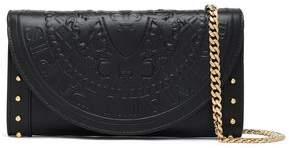 Balmain Studded Embossed Leather Wallet
