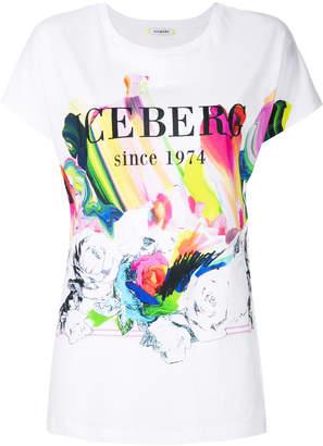 Iceberg logoed rose T-shirt