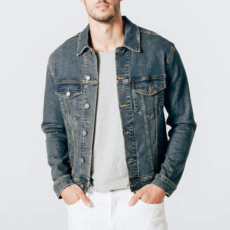 DSTLD Mens Denim Jacket in Dark Vintage