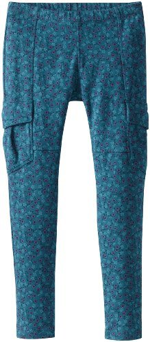Tea Collection Girls 7-16 Printed Skinny French Terry Cargo Leggings