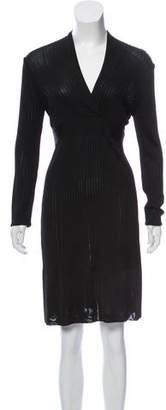 Herve Leger Long Sleeve Knee-Length Dress