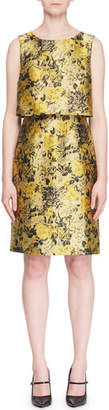 Erdem Hoshie Sleeveless Floral-Jacquard Cocktail Dress