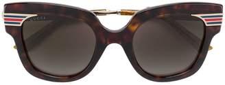 Gucci square logo sunglasses