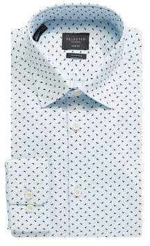 Selected Flow Slim Fit Bird Print Dress Shirt