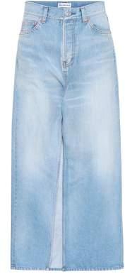 Balenciaga Denim maxi skirt
