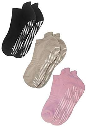 De-Luxe Deluxe Anti Slip Non Skid Barre Yoga Pilates Hospital Socks with grips for Adults Men Women