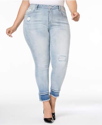 Seven7 Trendy Plus Size Skinny Jeans Released-Hem Jeans