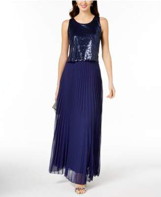 MSK Sequined Popover Gown
