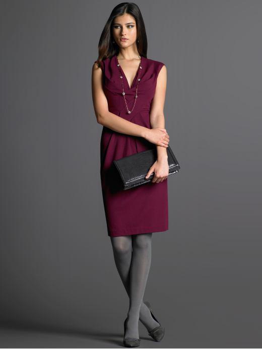 Sleeveless origami knit dress