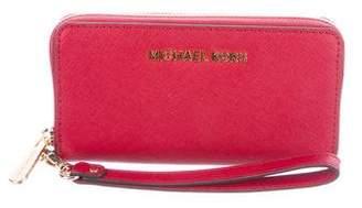 MICHAEL Michael Kors Leather iPhone Wristlet