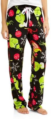 Dr. Seuss Grinch Women's and Women's Plus Super Mink Sleep pant
