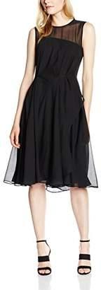 French Connection Women's WINTER RAY CHIFFON S/LSS RDNK Knee-Length Evening Sleeveless Dress,(Manufacturer Size: Medium)