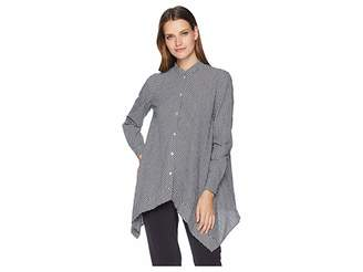 Anne Klein Uneven Hem Shirt Women's Blouse
