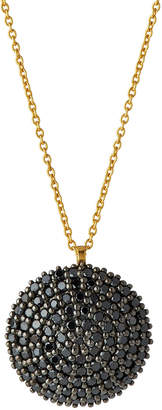Gurhan 18K Two-Tone Pave Black Diamond Lentil Pendant Necklace vIYLUpXU