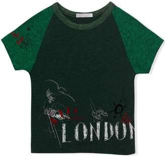 Burberry Raglan-sleeve Adventure Motif Cotton Blend T-shirt