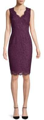 Vince Camuto Sleeveless Scalloped Lace Dress