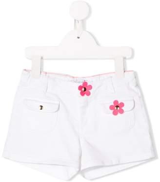 Little Marc Jacobs flower detail denim shorts
