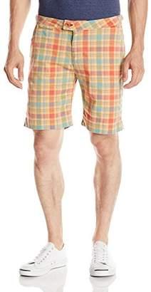 Psycho Bunny Men's Austin Plaid Flat Front Short