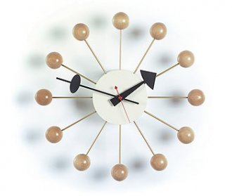 Pin It Vitra Nelson Ball Clock Natural Wood