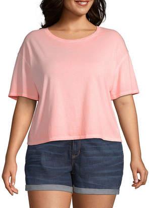 Arizona Crew Neck Short Sleeve T-Shirt Juniors Plus