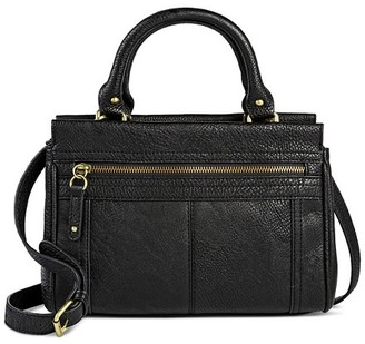 Merona Women's Faux Leather Timeless Collection Mini Satchel Handbag Black - Merona $34.99 thestylecure.com
