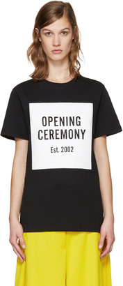 Opening Ceremony Black Logo T-Shirt $75 thestylecure.com