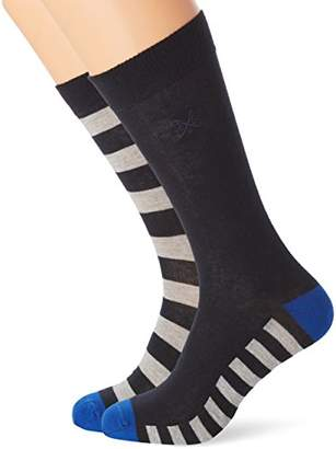 Crew Clothing Men's Pack of 2 Oxford Stripe Socks
