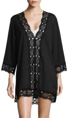 LaBlanca La Blanca Crochet V-Neck Cover-Up Tunic