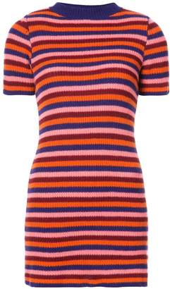 The Elder Statesman striped rib knit dress
