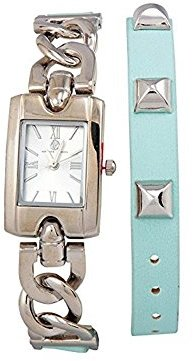 Adrienne Vittadini Ladies Watch ad8519s125 – 895シャンパンダイヤルレザーQuartz Movement