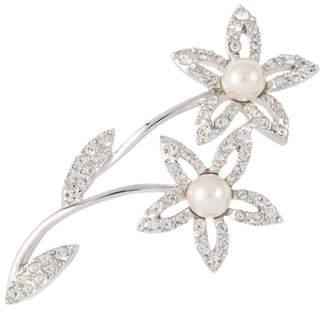 Susan Caplan Vintage 1980s Vintage D Orlan Swarovski Crystal Flower Brooch