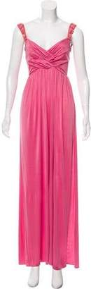 Blumarine Embellished Maxi Dress