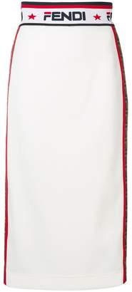 Fendi x Fila pencil skirt
