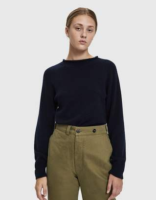 Margaret Howell Cast Off Roll Neck Sweater in Navy