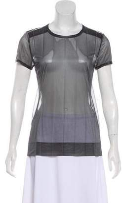 Barbara Bui Short Sleeve Sheer Top