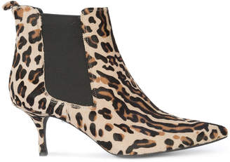 Anine Bing animal print ankle boots