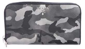 Prada Saffiano Camouflage Zip Wallet