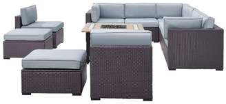 Crosley Biscayne 8-Piece Outdoor Wicker Seating Set