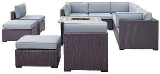 Crosley Biscayne 8-Piece Outdoor Wicker Seating Set