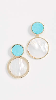 Bronzallure Magnesite & Mother of Pearl Drop Earrings