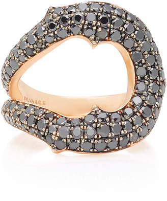 Black Diamond Sylva & Cie Horseshoe 14K Rose Gold Ring