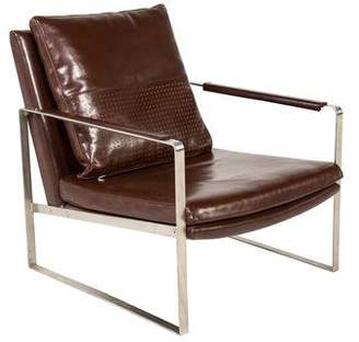 Leather Mid-Century Modern-Style Lounge Chair