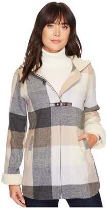 Pendleton Hooded Zip Front Toggle Coat Women's Coat