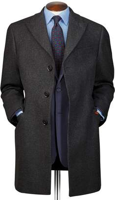 Charles Tyrwhitt Grey Wool and Cashmere Epsom OverWool/cashmere coat Size 44