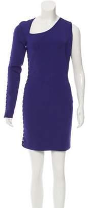 Balmain 2017 Lace-Up One-Sleeve Dress w/ Tags Purple 2017 Lace-Up One-Sleeve Dress w/ Tags