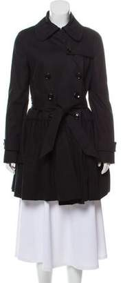 Dolce & Gabbana Ruffle-Trimmed Double-Breasted Coat